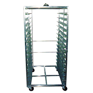 Stainless steel Trolley & Special food grade castors made in Germany