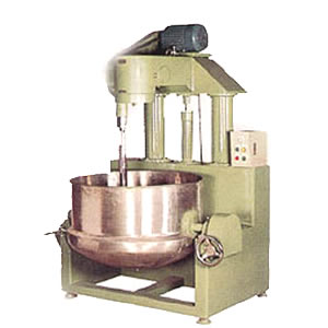 Full Auto. Production Line for Pineapple Cake, Moon Cake, Maamoul, Hopia - Steam Smashed bean cooker & agitator with oleodynamic tippingdevice.